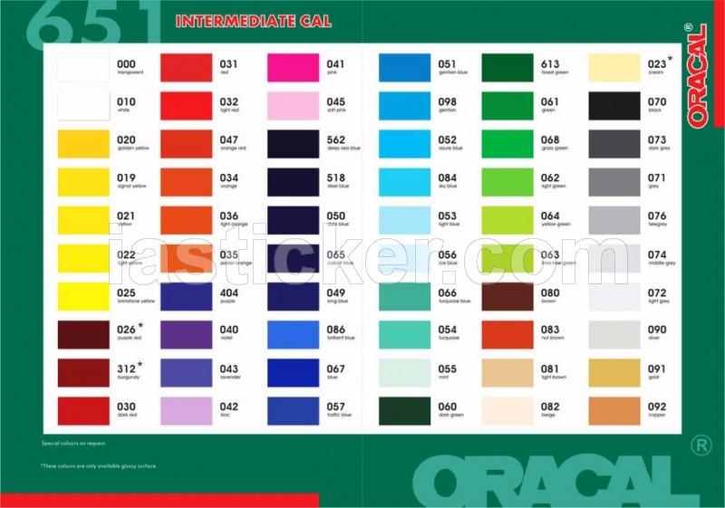 Catalog Oracal 651